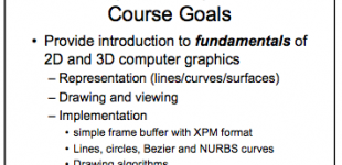 computer graphics course [drexel]