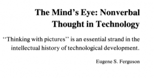 the minds eye essay The mind's i: fantasies and reflections on self and soul is a 1981 collection of  essays and other  and dennett book for the dark tranquillity album, see the  mind's i (album) for other uses with similar titles, see mind's eye (disambiguation .