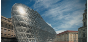 architectural freeform structures from single curved panels [evolute]