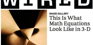 mathematical model work featured in WIRED magazine