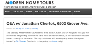 2013 austin modern homes tour Q&A