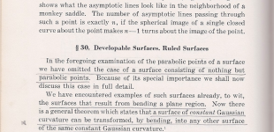 developable surfaces. ruled surfaces | hilbert pp. 204 - 214