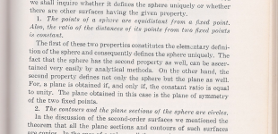 eleven properties of the sphere | hilbert pp. 215 - 232
