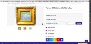 "Monet Water Lillies (""MFA gift of Cochrane; 19.170"") up for bidding on BuyGoodwill.com"